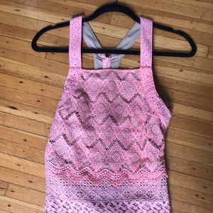 Urban outfitters pink halter dress